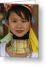 Long Necked Woman Of Thailand Greeting Card