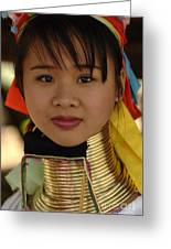 Long Necked Woman Thailand 4 Greeting Card