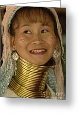 Long Necked Woman Thailand 5 Greeting Card