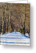 Long Path Ahead Greeting Card