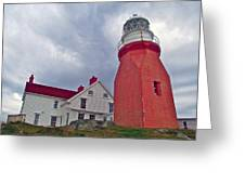 Long Point Lighthouse In Twillingate-nl Greeting Card