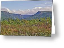 Long Range Mountains In Western Nl Greeting Card