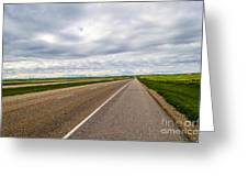 Road To The Sky In Saskatchewan. Greeting Card