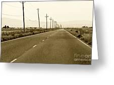 Long Road Home Greeting Card