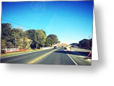 Long Road Greeting Card