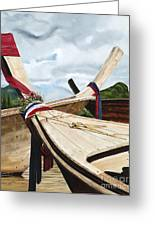 Long Tail Boats Of Krabi Greeting Card