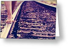 Long Tracks Greeting Card