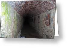 long tunnel in Ft Adams Greeting Card
