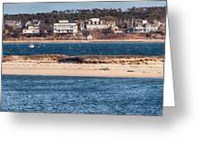 long view of Brant point lighthouse Greeting Card