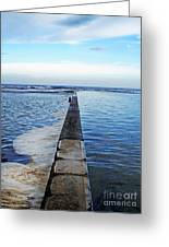 Long View To The Ocean Greeting Card
