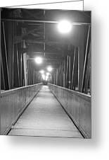 Long Walking Bridge Greeting Card