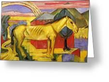 Long Yellow Horse 1913 Greeting Card
