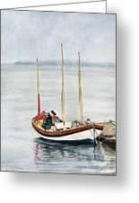 Longboat Greeting Card by Sandy Linden