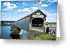 Longest Covered Bridge Greeting Card