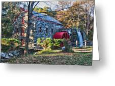 Longfellow's Wayside Inn Grist Mill In Autumn Greeting Card