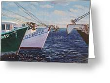 Longliners Achor To Anchor Greeting Card