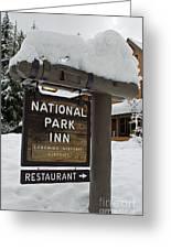 Longmire National Park Inn Greeting Card