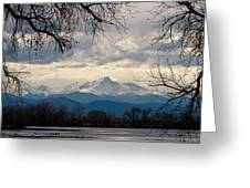Long's Peak Over Barr Lake Greeting Card