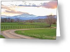 Longs Peak Springtime Sunset View  Greeting Card