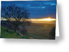 Longshaw Sunset Greeting Card
