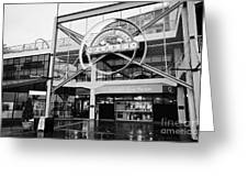 lonsdale quay market shopping mall north Vancouver BC Canada Greeting Card by Joe Fox