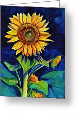 Midnight Sunflower Greeting Card