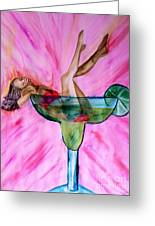 Look Better Naked Margarita Greeting Card