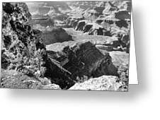 Looking Down On Grand Canyon Greeting Card
