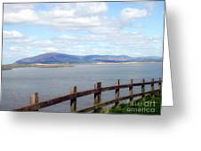 Looking At Black Combe Greeting Card