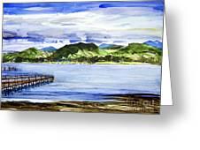 Looking At Morro Bay  Greeting Card