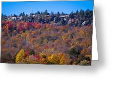 Looking At The Top Of Bald Mountain Greeting Card