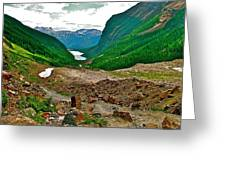 Looking Back To Lake Louise From Trail To Plain Of Six Glaciers In Banff Np-ab  Greeting Card