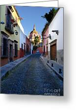 Looking Down Aldama Street, Mexico Greeting Card