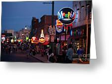 Looking Down Beale Street Memphis Greeting Card
