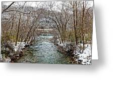 Looking Down Clifty Creek Greeting Card