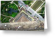 Looking Down From The Eiffel Tower Greeting Card