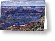 Looking Down On Blue Mountains Greeting Card
