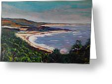 Looking Down On Half Moon Bay Greeting Card