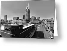 Looking Down On Nashville Greeting Card