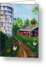 Looking Down On The Farm Greeting Card