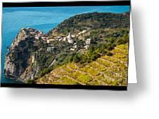 Looking Down Onto Corniglia Greeting Card