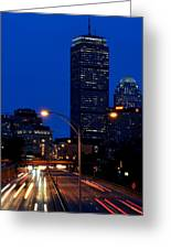 Looking Down The Mass Pike From The Brookline Ave Bridge Greeting Card