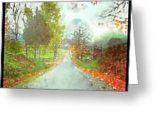 Looking Down The Road Greeting Card