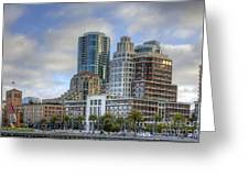Looking Downtown Greeting Card