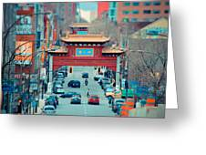 Looking For Chinatown Greeting Card