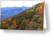 Looking Glass Rock And Fall Colors Greeting Card