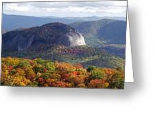 Looking Glass Rock And Fall Folage Greeting Card