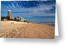 Looking North Along The Beach Greeting Card