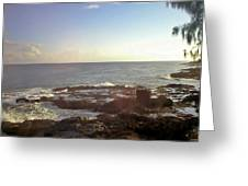 Looking Out Over The Ocean Greeting Card