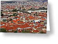 Looking Over Prague Greeting Card